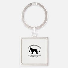 Belgian Shepherd Mommy Vector designs Square Keych