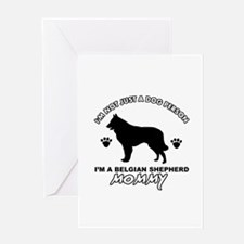 Belgian Shepherd Mommy Vector designs Greeting Car