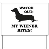 Beware of dachshund Yard Signs