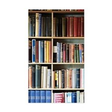 Various books on shelves Decal