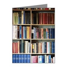 Various books on shelves Note Cards (Pk of 10)