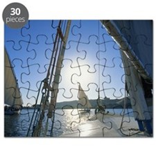 Egypt, Aswan, feluccas sailing on River Nil Puzzle