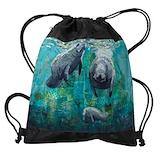 Manatees Drawstring Bag