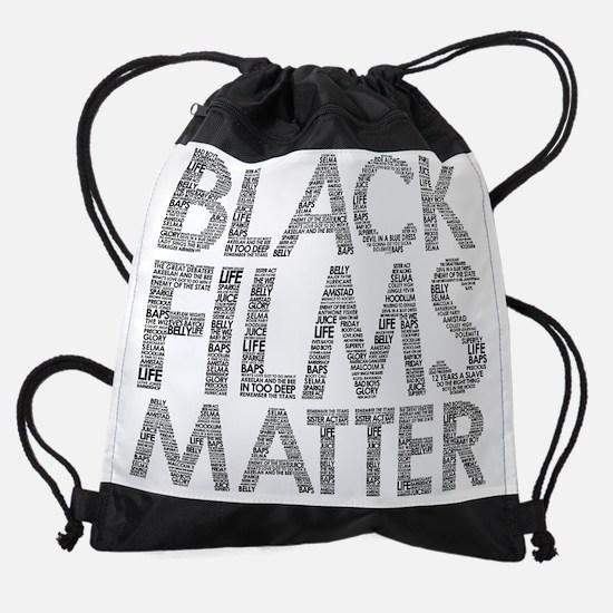 Black Films Matter Drawstring Bag