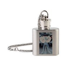 'Just Married' sign on bumper of co Flask Necklace