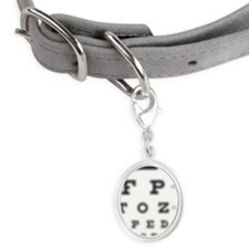 Blurred sight test chart with o Small Oval Pet Tag