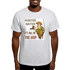 Master Baiter Ash Grey T-Shirt