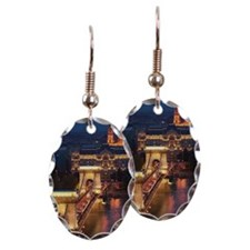 Hungary, Budapest, Chain Bridge Earring
