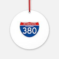 Interstate 380 - CA Ornament (Round)