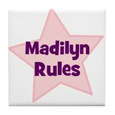 Madilyn Rules Tile Coaster