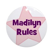 Madilyn Rules Ornament (Round)