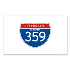 Interstate 359 - AL Rectangle Decal