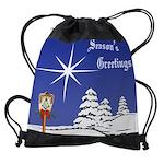 11x9  Calendar greetings.png Drawstring Bag