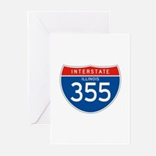 Interstate 355 - IL Greeting Cards (Pk of 10)