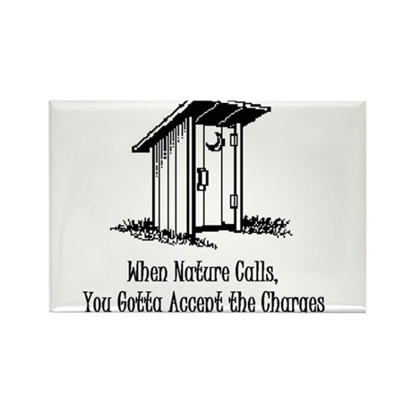 Nature Calling Rectangle Magnet