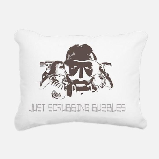 Unique Rebreather scuba Rectangular Canvas Pillow
