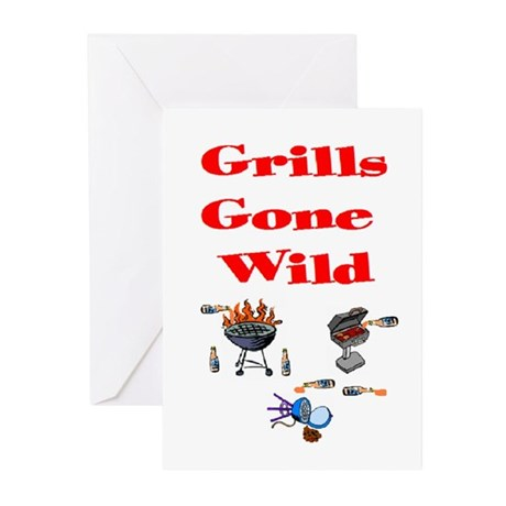 Grills Gone Wild Greeting Cards (Pk of 10)
