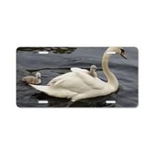 Cygnet on mums back Aluminum License Plate