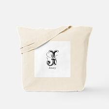 Jenny: Fancy Monogram Tote Bag