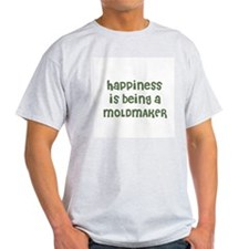 Happiness is being a MOLDMAKE Ash Grey T-Shirt