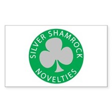 Silver Shamrock Rectangle Decal