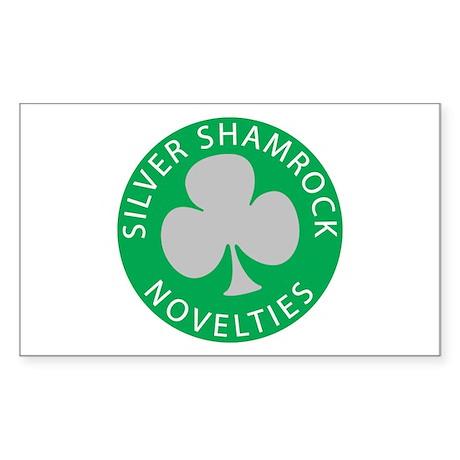 Silver Shamrock Rectangle Sticker