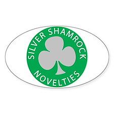 Silver Shamrock Oval Bumper Stickers
