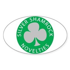 Silver Shamrock Oval Decal