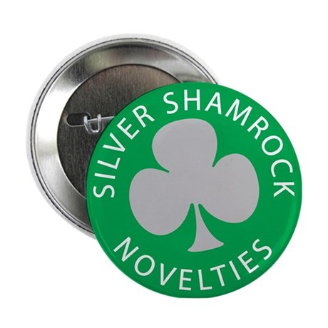Silver Shamrock Button