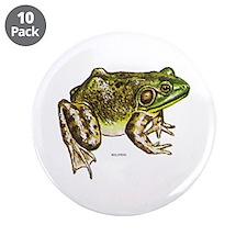 "Bullfrog Frog 3.5"" Button (10 pack)"