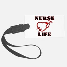 Nurse Life with heart stethoscop Luggage Tag