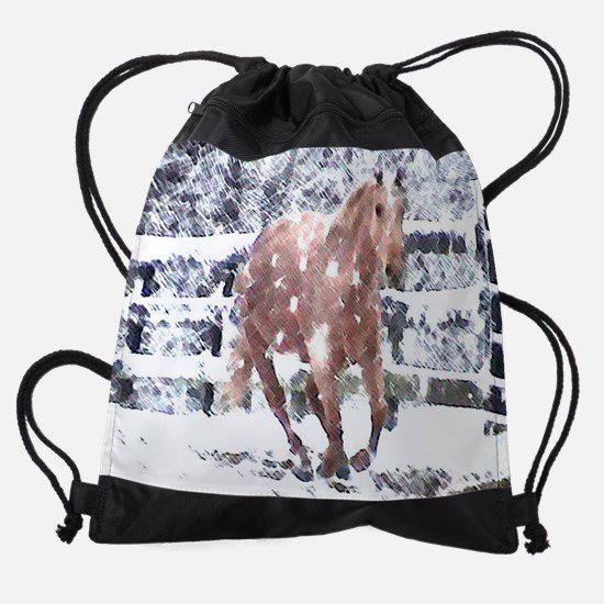 2008 Palomino Horse Calendar Drawstring Bag