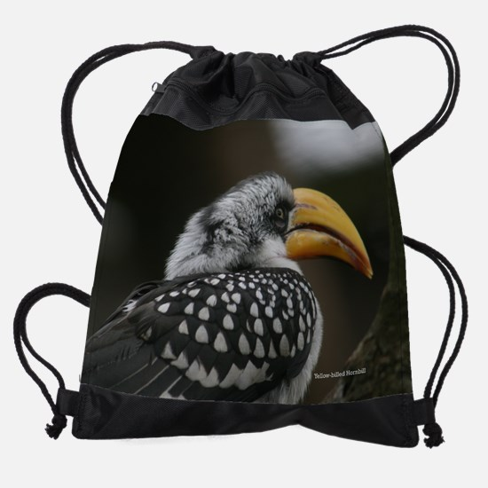 05-Yellow-billed-Hornbill.png Drawstring Bag
