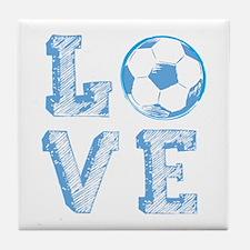 Love Soccer Tile Coaster