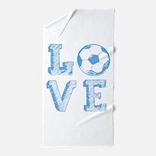 Love Soccer Beach Towel