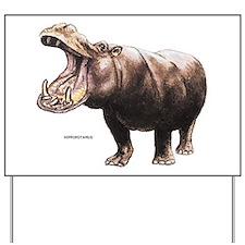 Hippopotamus Animal Yard Sign