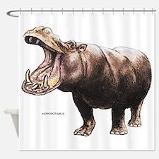 Hippopotamus Animal Shower Curtain