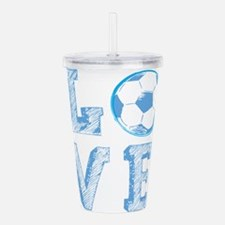 Love Soccer Acrylic Double-wall Tumbler