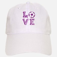Girly Love Soccer Baseball Baseball Cap
