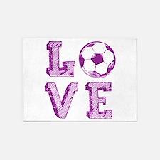 Girly Love Soccer 5'x7'Area Rug
