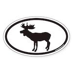 Moose Euro Oval Sticker