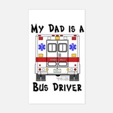 Bus Driver Dad Rectangle Decal