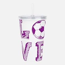 Girly Love Soccer Acrylic Double-wall Tumbler