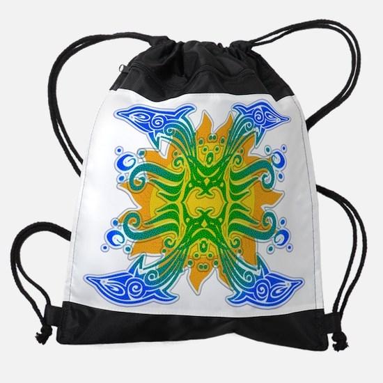 Dolphin Joy Drawstring Bag