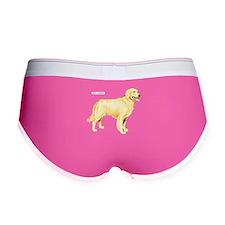 Golden Retriever Dog Women's Boy Brief