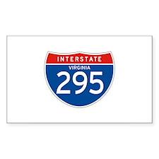 Interstate 295 - VA Rectangle Decal