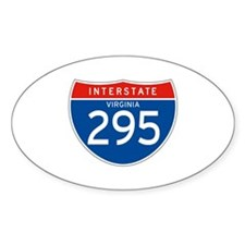 Interstate 295 - VA Oval Decal