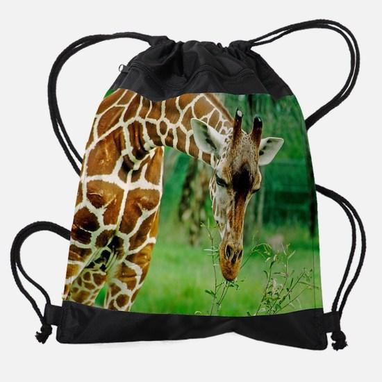 giraffe wildlife animal smalli.png Drawstring Bag