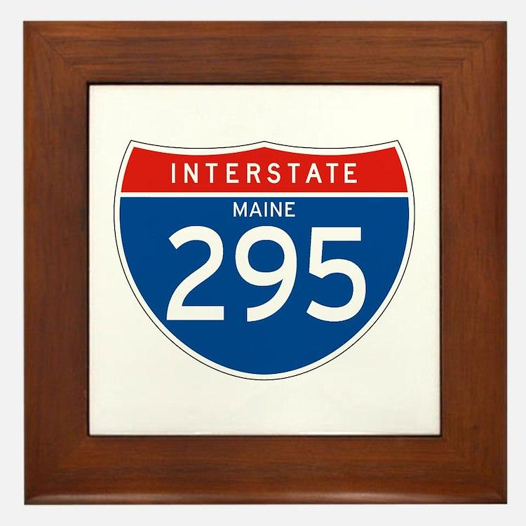 Interstate 295 - ME Framed Tile