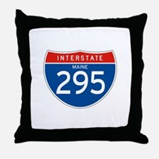 Interstate 295 - ME Throw Pillow